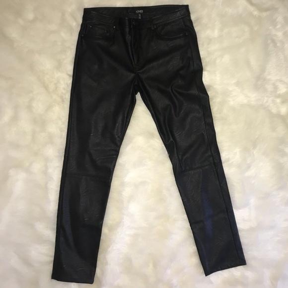 4b2ab121985738 Jones New York Pants   Leather Size 12 Black Genuine   Poshmark